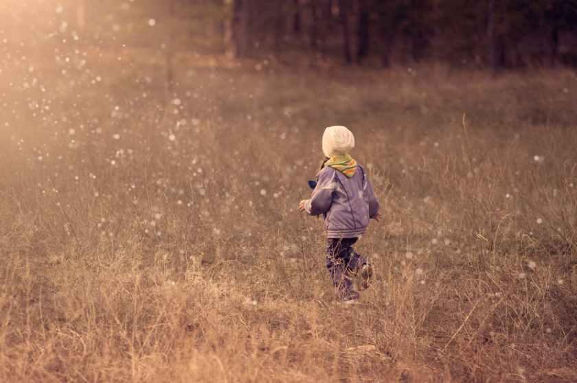 active blowing bubbles child